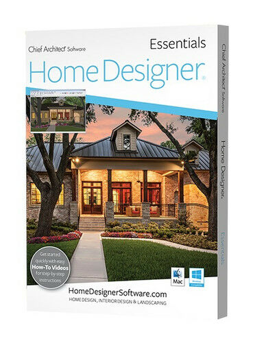 Chief architect home designer essentials 2018 dvd ebay for Chief architect home designer essentials 2017
