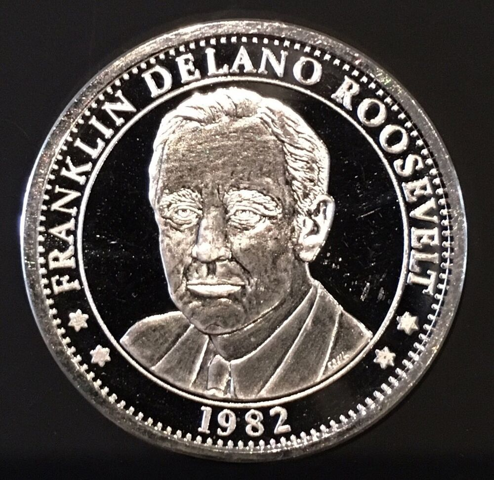 1982 Franklin Delano Roosevelt 100th Anniversary 1 Troy Oz