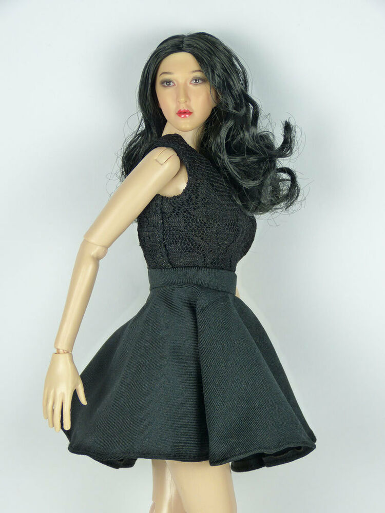 1/6th scale female Phicen figure doll in white tank top