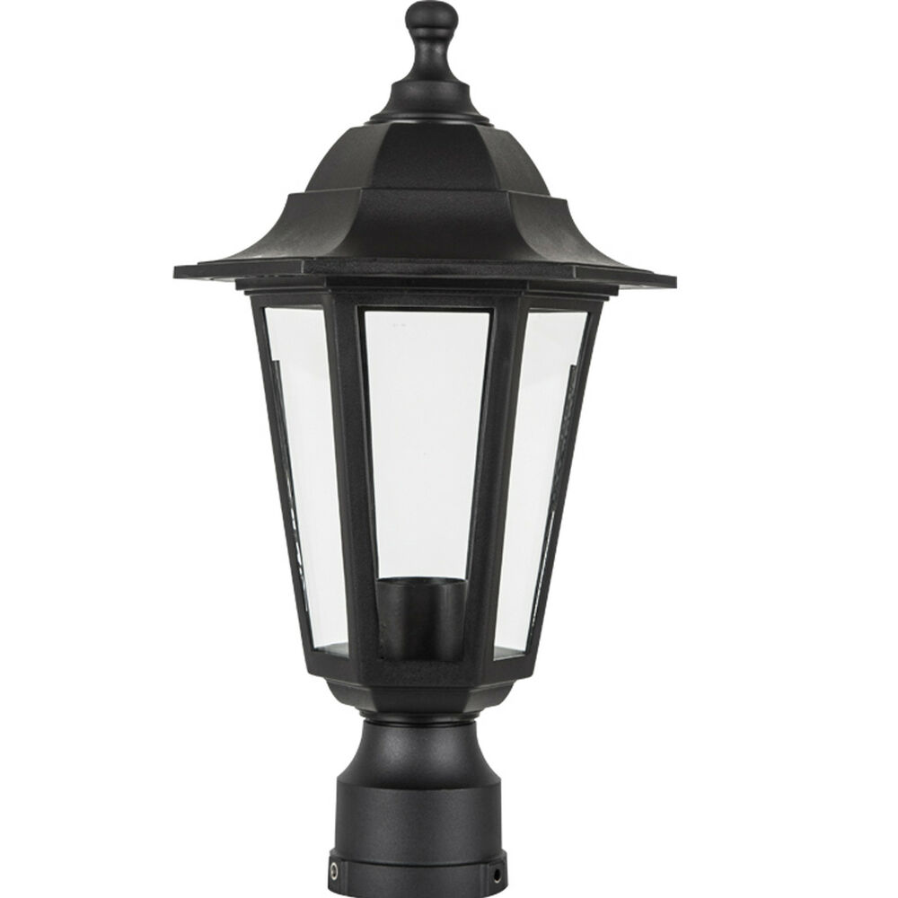 Outdoor lamp fixture post outside antique pole mount for Outdoor yard light fixtures