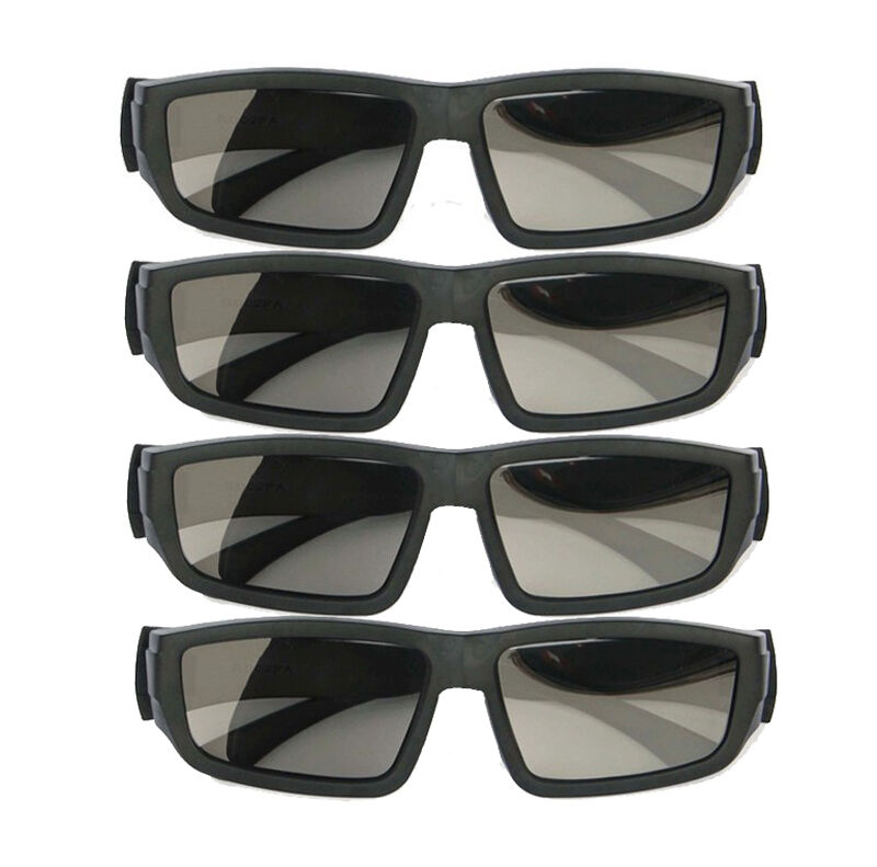 4PCS IMAX Glasses Passive Polarized 3D Glasses For RealD
