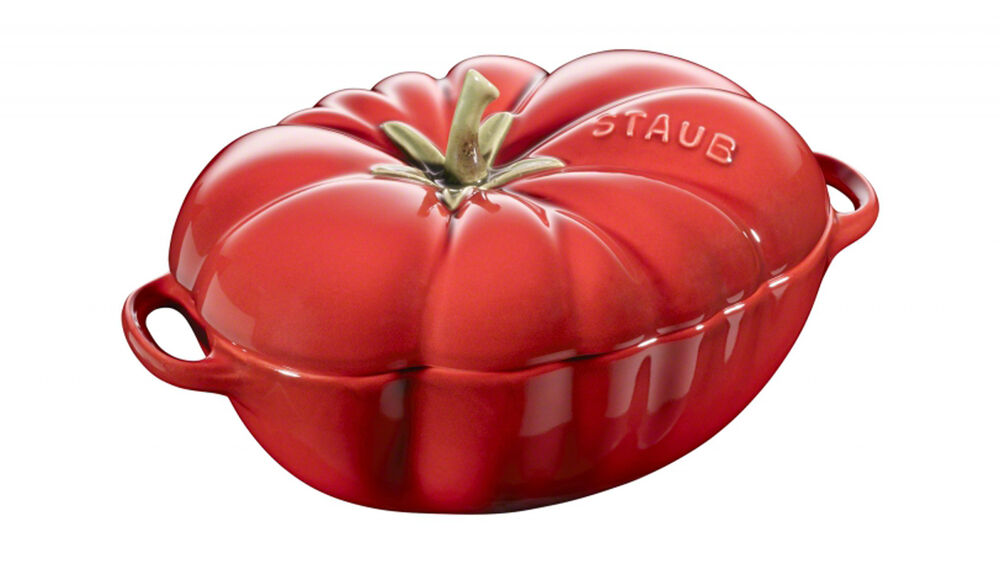 staub mini cocotte keramik tomate suppensch ssel serviersch ssel auflaufform 470 ebay. Black Bedroom Furniture Sets. Home Design Ideas
