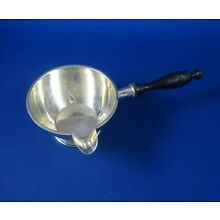 Sterling Silver Sauce Pan with Wood Handle