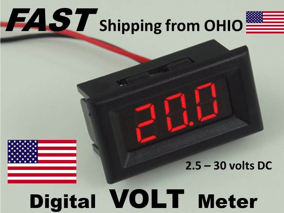 Car Audio system VOLTMETER dash mount snap in DIGITAL ...