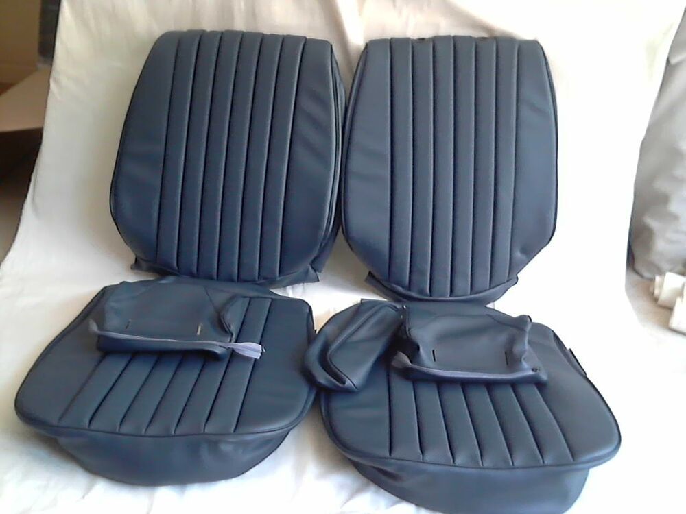 Mercedes benz seat covers 450sl blue mb tex vinly ebay for Mercedes benz car seat covers sale