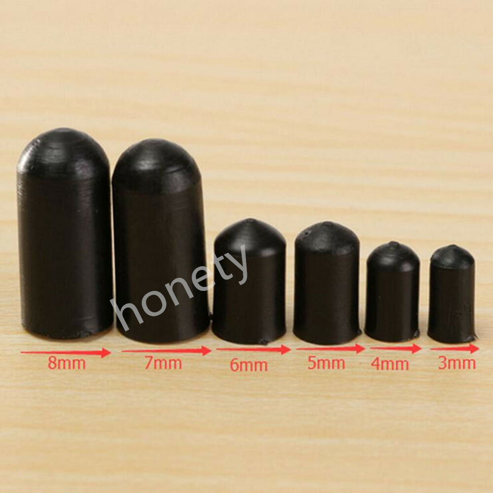 Black Rubber End Caps For 4 Lines Quad Stunt Kite Fixed