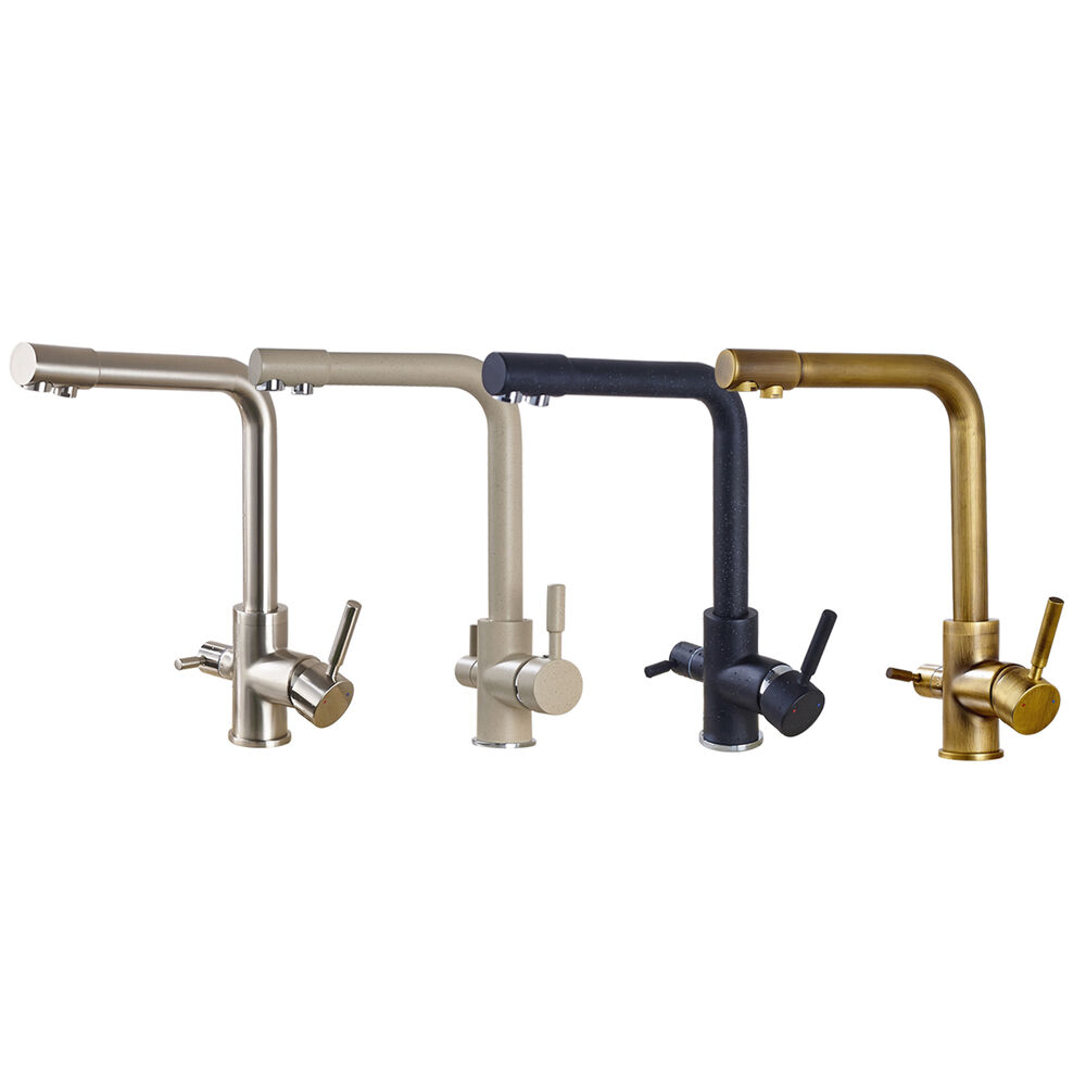 Kitchen Faucets Ebay 3- Way Brass Kitchen Faucet for Hot, Cold and Purified ...