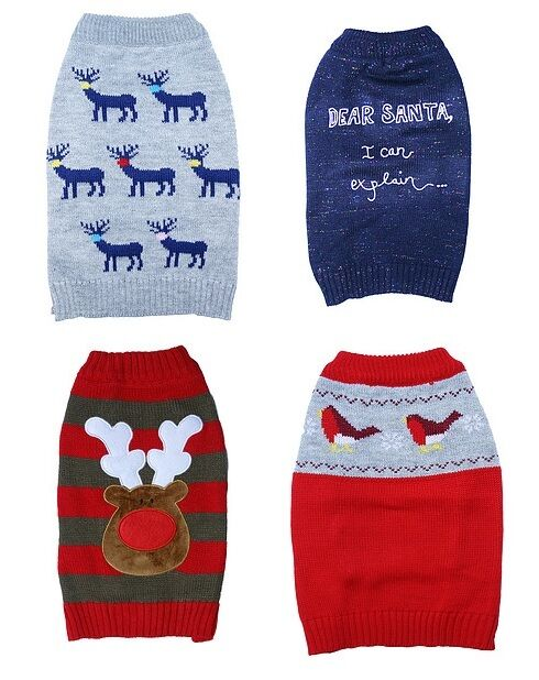 Xl Dog Sweater Knitting Pattern : Festive christmas dog sweaters various sizes xs s m l