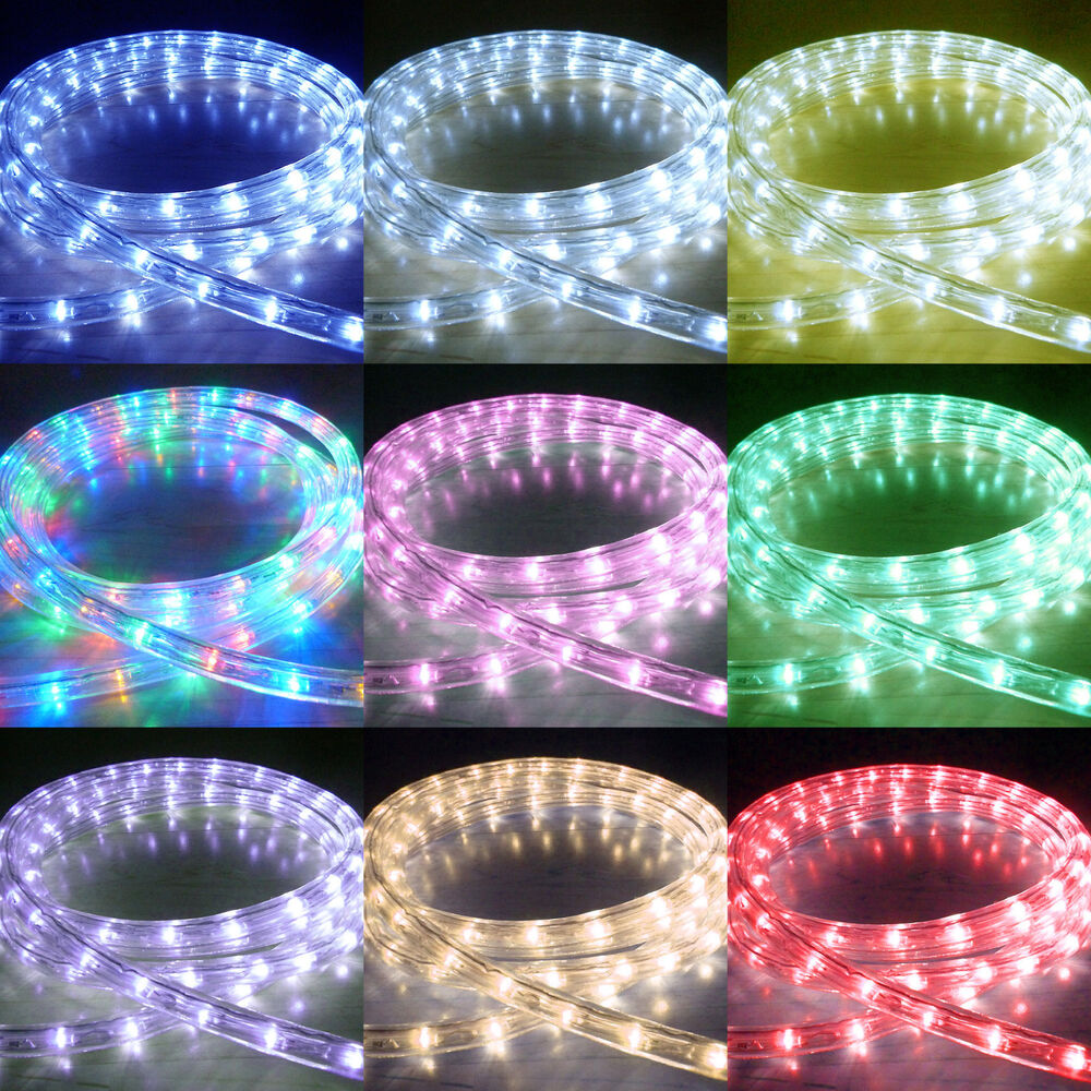 Led Rope Light Tinsel Bauble: LED Rope Lights Outdoor Chasing Static LED Strip Light