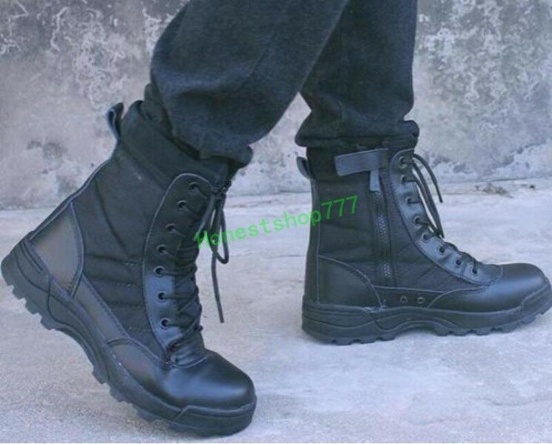 Mens Special Forces Military Ankle Boots Army SWAT ...