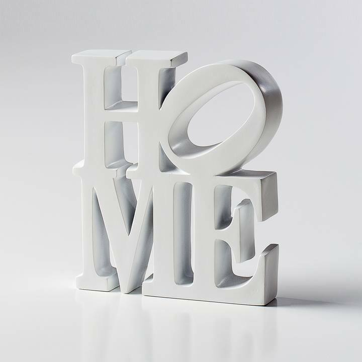 New White Resin Home Word Art Decor Tabletop Mantel Home Decorators Catalog Best Ideas of Home Decor and Design [homedecoratorscatalog.us]