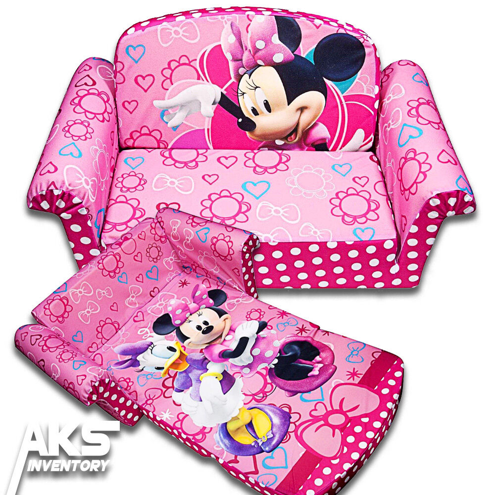 Minnie Mouse Flip Open Sofa Convertable Couch Lounger