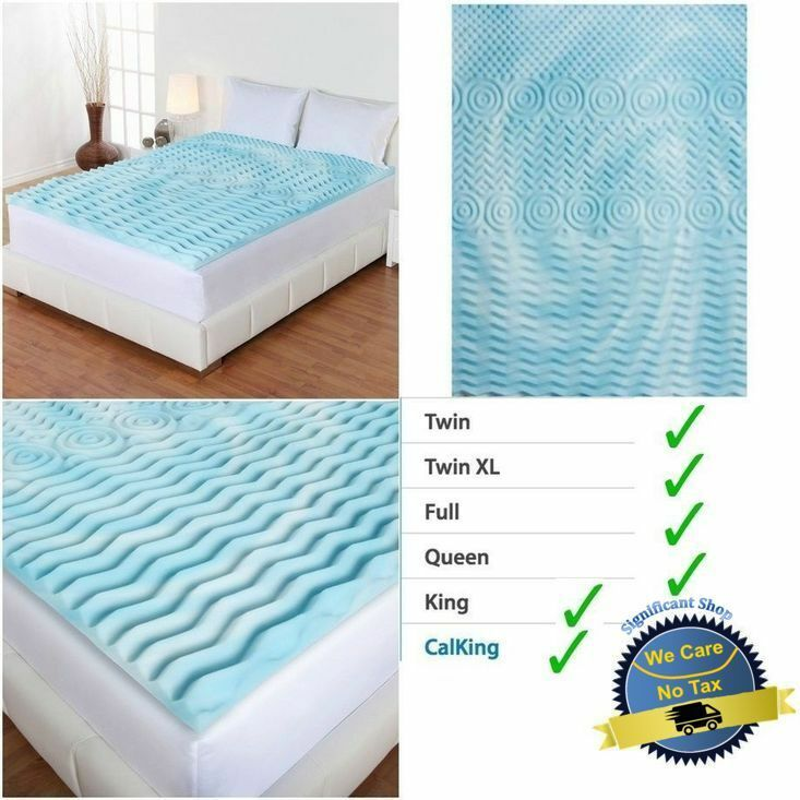 2 Inch Cooling Gel Foam Mattress Topper Pad Bed Cushion 5