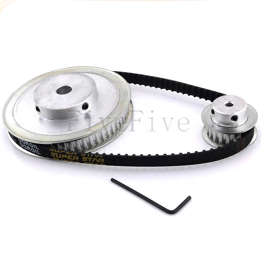 Xl Pulleys And Belts : Xl tooth mm pitch timing pulley belt set kit