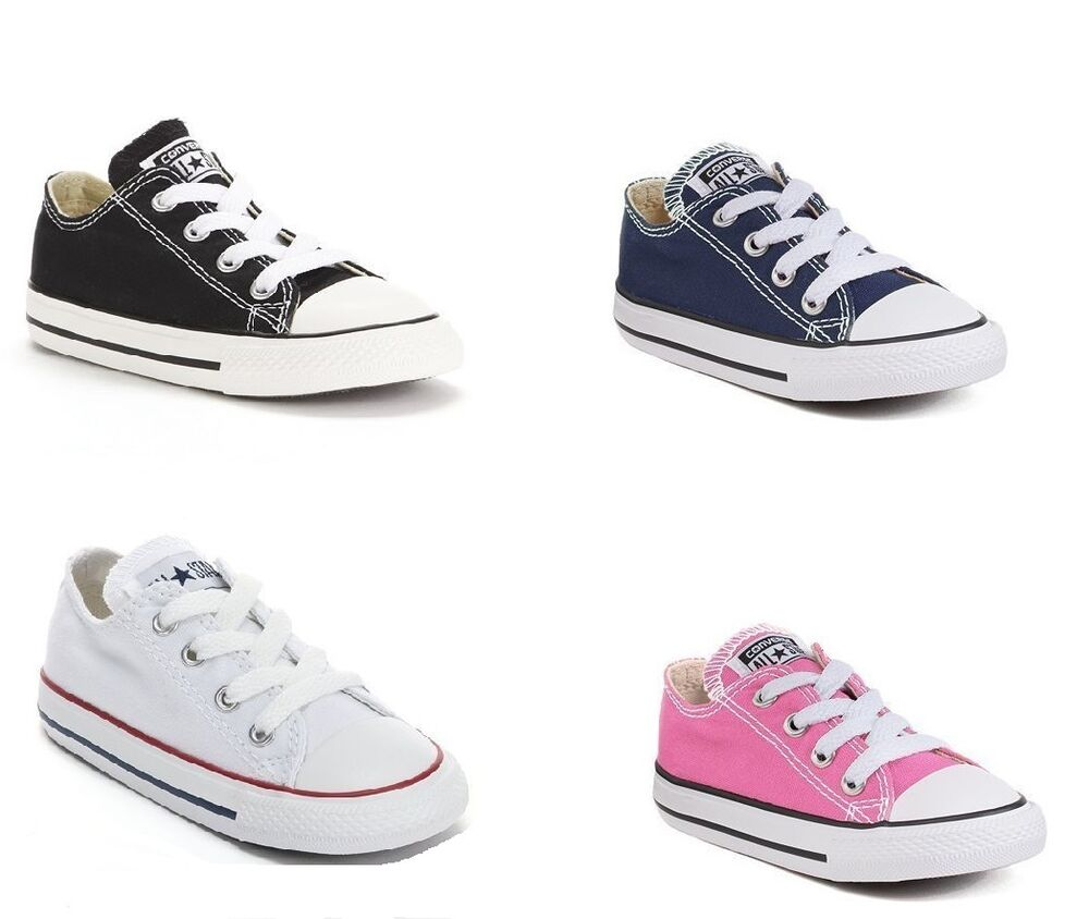 converse chuck taylor all star low top infant toddler. Black Bedroom Furniture Sets. Home Design Ideas