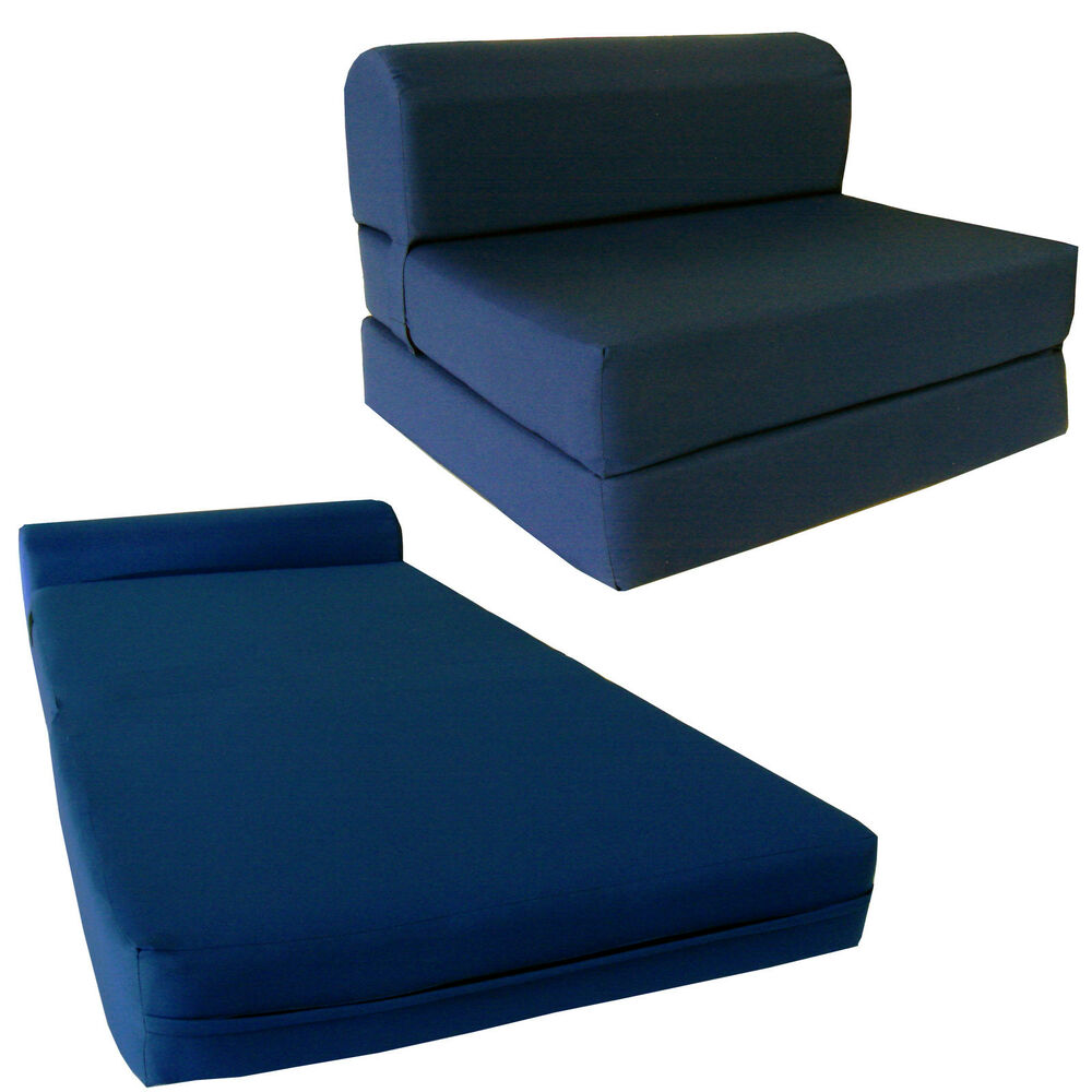 Navy Sleeper Chair Folding Foam Beds 6 X 36 X 70