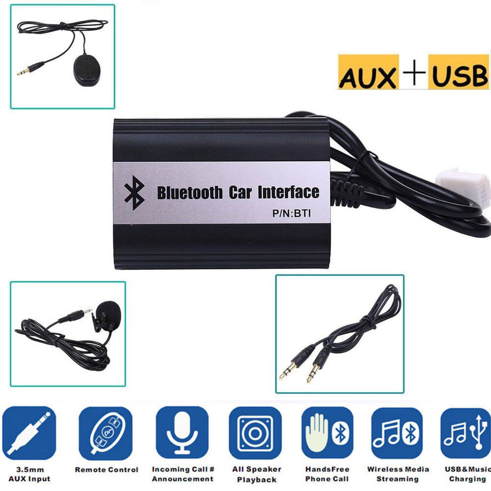 Bluetooth Music Hands-Free Car CD MP3 Aux USB Adapter