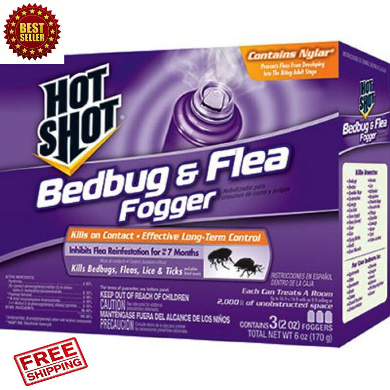 3 Pack Bed Bug Bomb Insect Fogger Kill Mosquito Flies