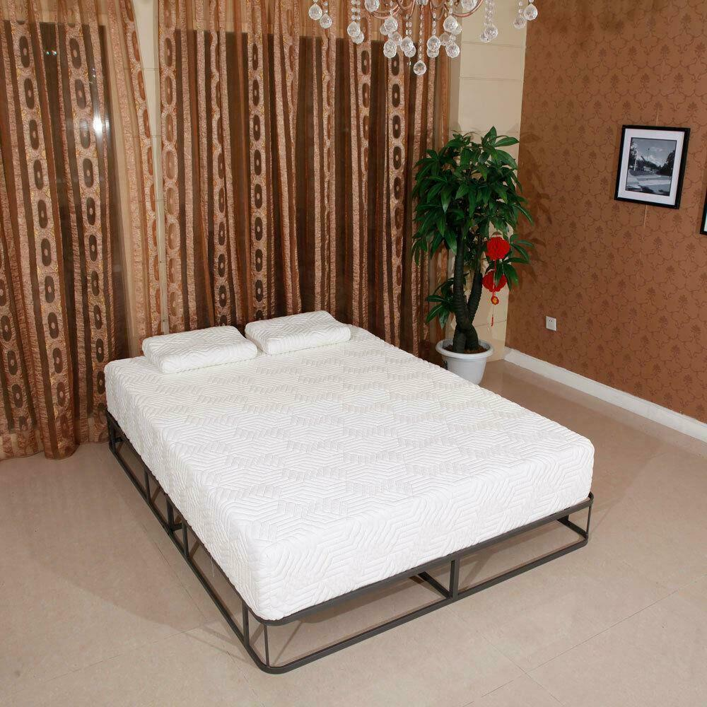 8 Inch Queen Cool Medium Firm Gel Memory Foam Mattress Bed With 2 Free Pillows Ebay
