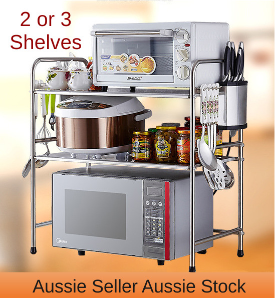 Kitchen Shelves Microwave: 2 Or 3 Kitchen Shelves Stainless Steel Microwave Shelf