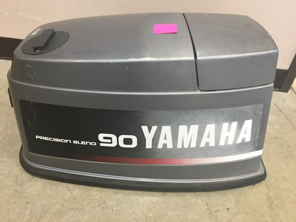 Yamaha 90hp 2 stroke outboard motor hood housing cover ebay for 90 hp outboard motor prices