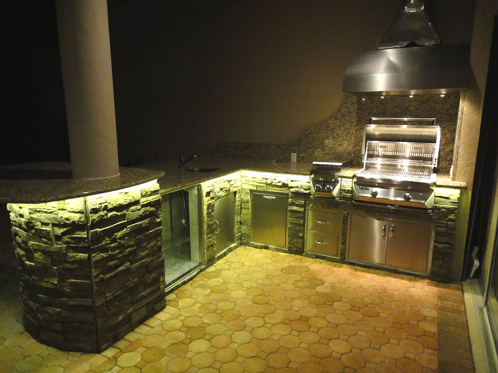 Outdoor Kitchen Island Grill Led Lighting Kit With