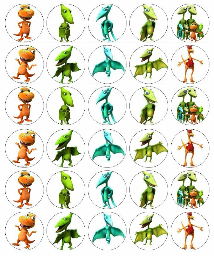 30 x Dinosaur Train Edible Cupcake Toppers Wafer Paper ...