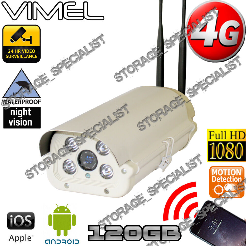 4G Wireless Security Camera 120GB GSM Alarm Farm Live View ...