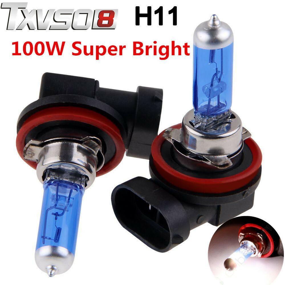 2x H11 H8 H9 100w Xenon Gas Halogen Car Headlight Fog Light Lamp Globe Bulbs Au Ebay