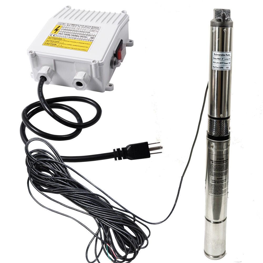 2hp 220v deep bore stainless submersible well water pump ... wiring a deep well pump