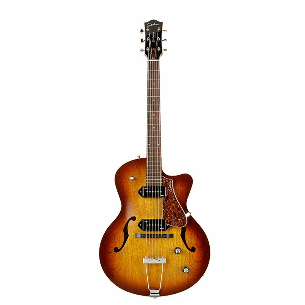 godin 5th avenue cw kingpin ii hollowbody cutaway electric guitar cognac burst 623501031252 ebay. Black Bedroom Furniture Sets. Home Design Ideas
