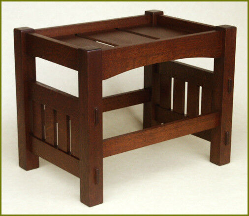 Harden footstool plans stickley mission arts and crafts for Craftsman furniture plans