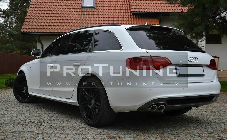 audi a4 b8 8k avant s4 style tailgate rear roof spoiler. Black Bedroom Furniture Sets. Home Design Ideas