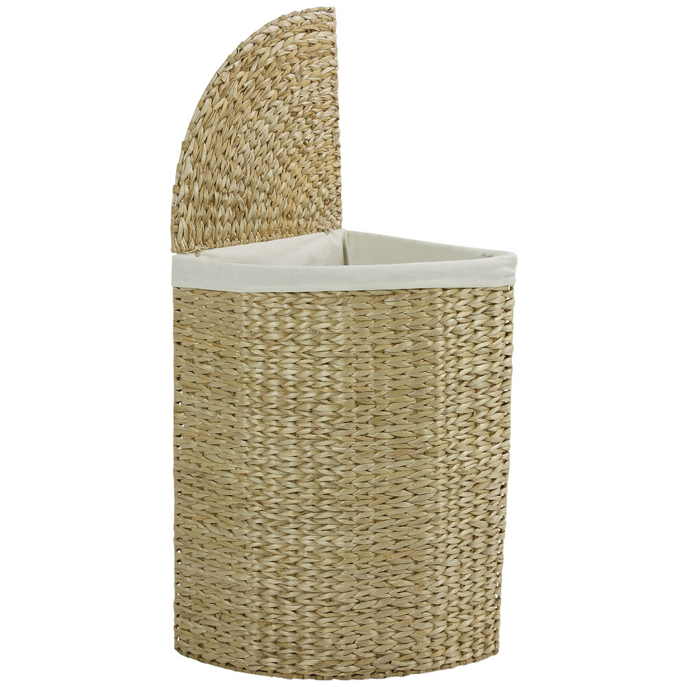 Hartleys Corner Laundry Basket Hamper Compact Wicker Large Washing Bin Clothes Ebay