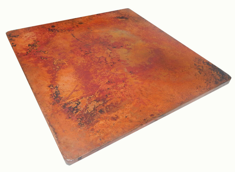 Mexican Square Copper Table Top Hand Hammered 48 Inches