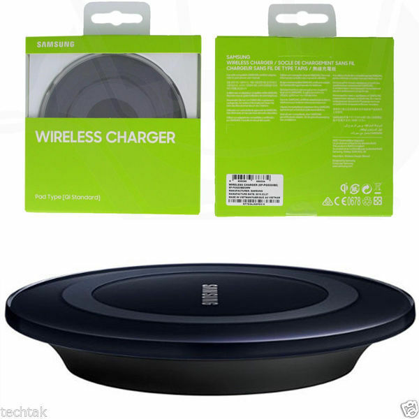 genuine samsung galaxy s7 s6 edge qi wireless charger. Black Bedroom Furniture Sets. Home Design Ideas