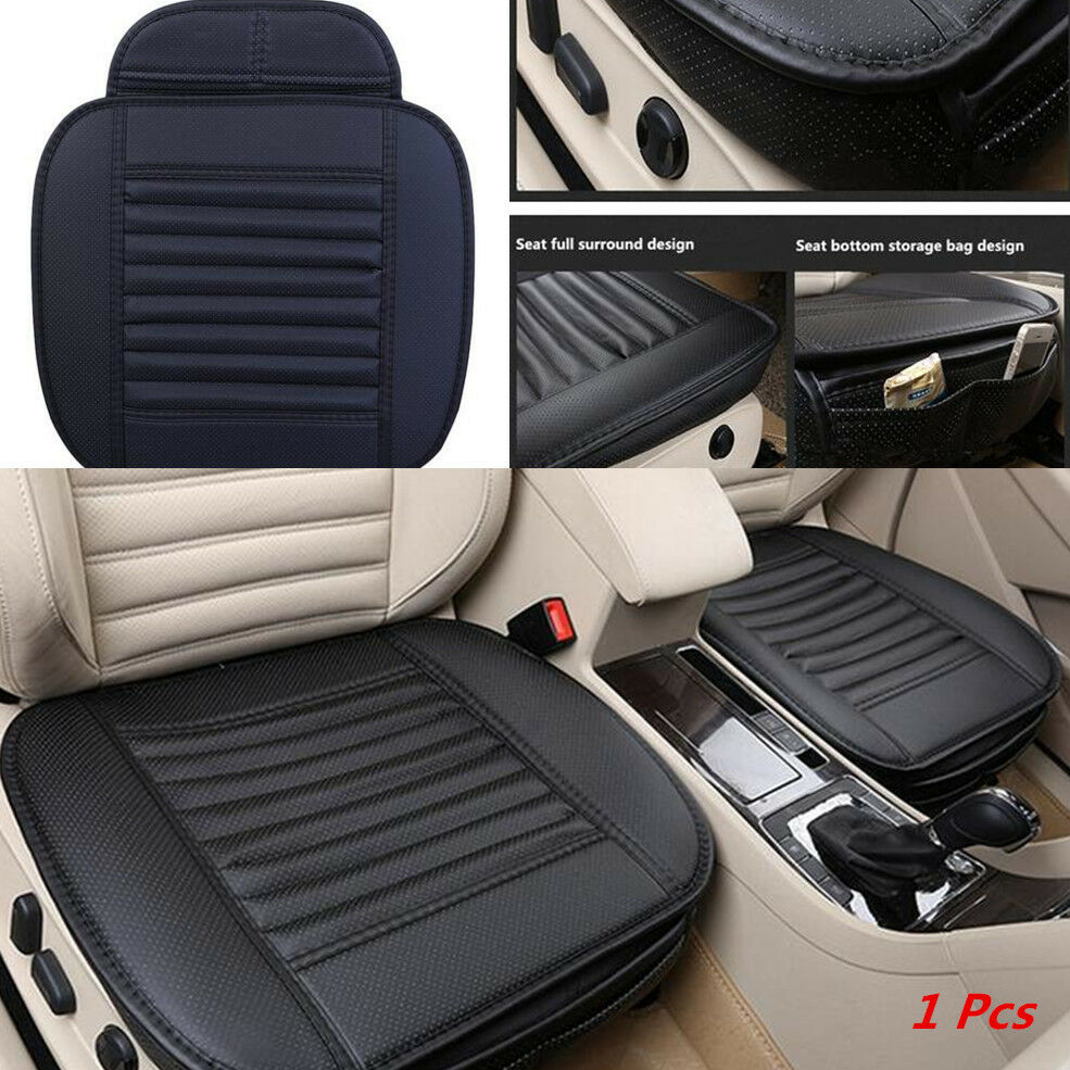1 car pu leather seat chair cover soft pad protect mat bamboo charcoal cushion ebay. Black Bedroom Furniture Sets. Home Design Ideas