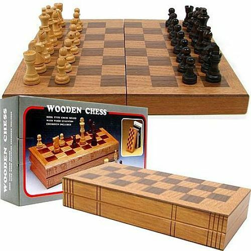 Wooden chess set wood board hand carved crafted pieces for Hand crafted chess set