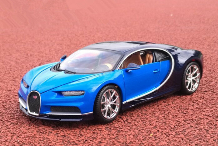 bburago 1 18 bugatti chiron diecast metal model roadster car vehicle blue ebay. Black Bedroom Furniture Sets. Home Design Ideas