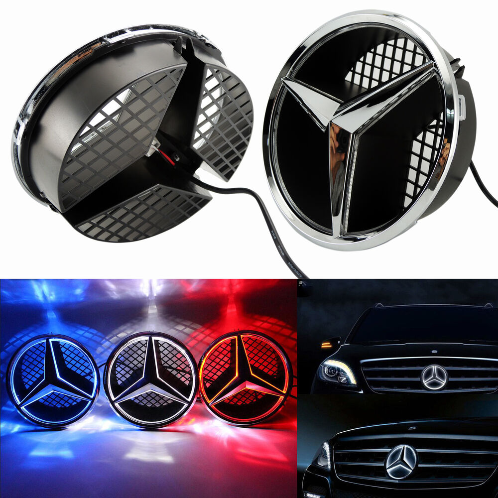 New front grille star emblem for mercedes benz 2006 2013 for Mercedes benz symbol light
