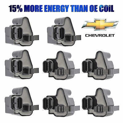8 pc Ignition Coil For Chevy Silverado Tahoe Suburban Sierra V8 Truck D581 UF271