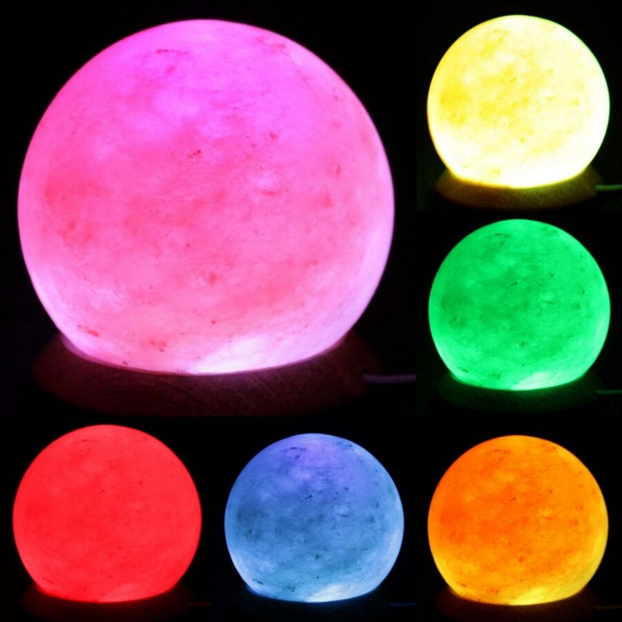Details about USB Natural Himalayan Salt Lamp Sphere -Round Rock Crystal  Multi Colour Changing 99cda0866