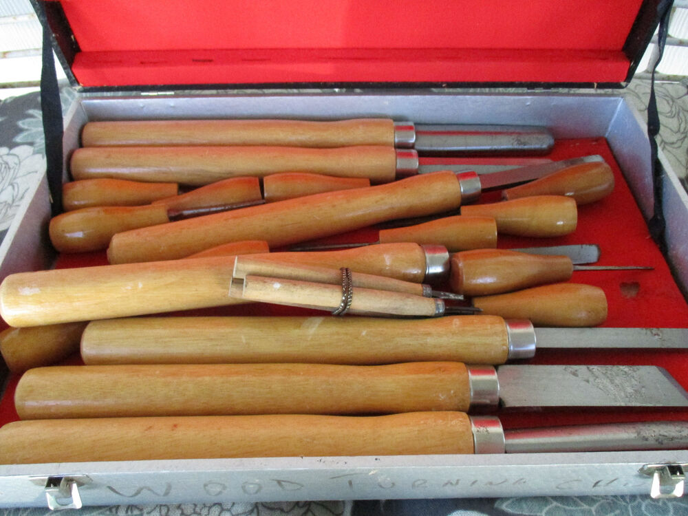 Wood Turning Chisels Set Of 21 Tool Chest Box 14 Quot To 5 1