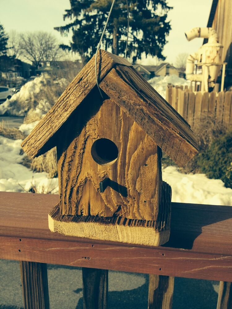 Amish Hand Crafted Brown Finch Birdhouse Lancaster Cnty