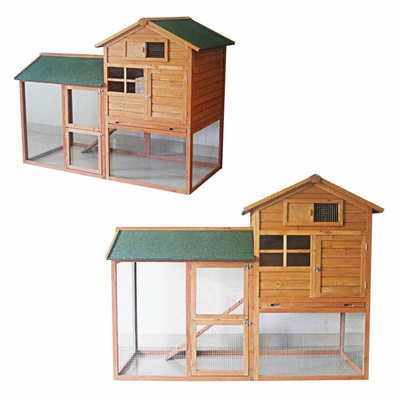 7ft large rabbit hutch with run pet house home ferret and. Black Bedroom Furniture Sets. Home Design Ideas
