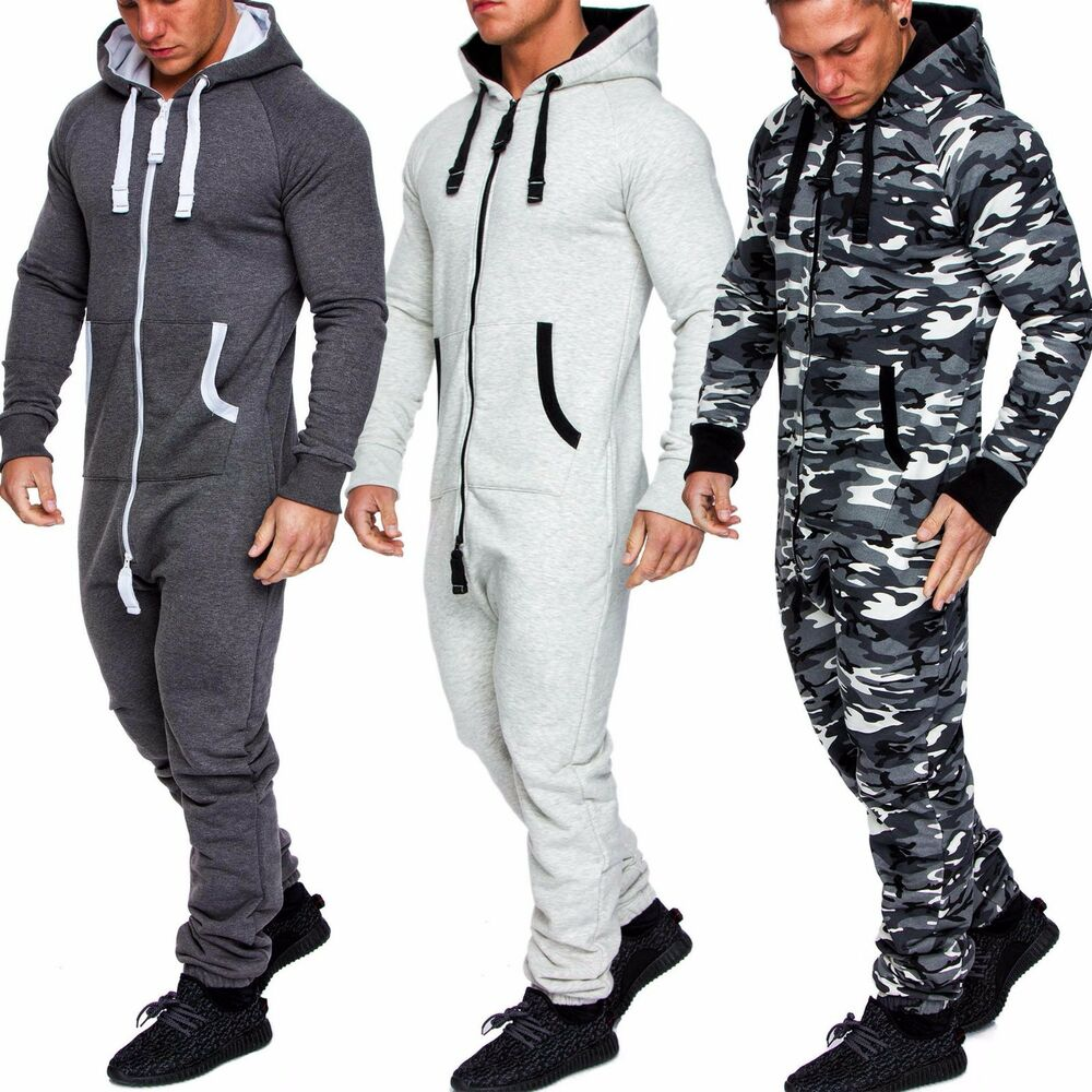 herren overall jumpsuit jogging onesie sportanzug trainingsanzug camouflage 3001 ebay. Black Bedroom Furniture Sets. Home Design Ideas