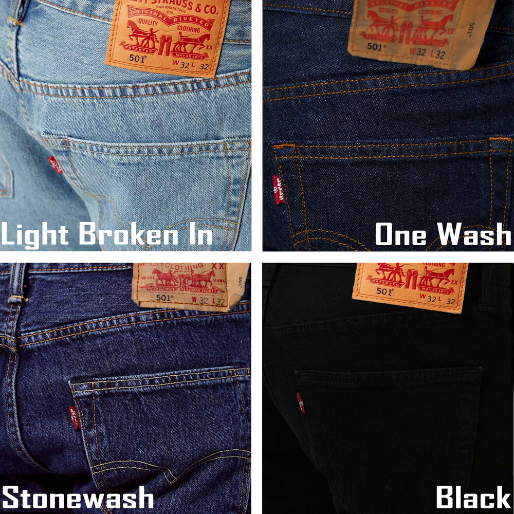 levis 501 men straight denim jeans original fit ebay. Black Bedroom Furniture Sets. Home Design Ideas