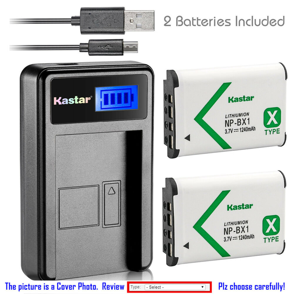 kastar battery and lcd slim usb charger for sony np bx1 type x cyber shot dsc ebay. Black Bedroom Furniture Sets. Home Design Ideas