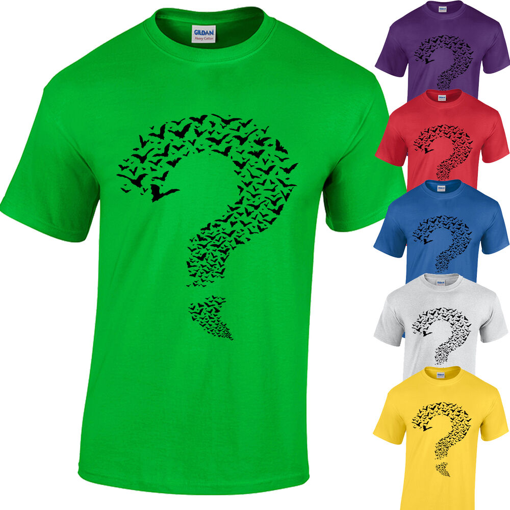 Riddler t shirt sheldon cooper big bang theory bats for Riddler t shirt with bats