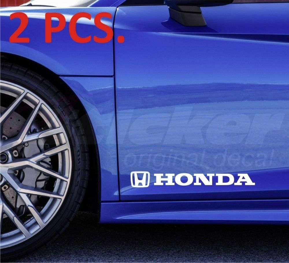 Honda Civic Accord Fit Cr V Set Of Two Stickers Decal On